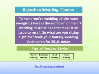 Rajasthan Wedding Planner