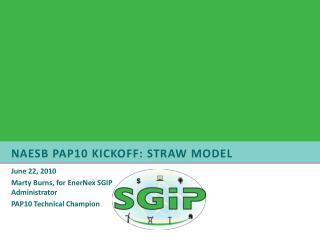 NAESB PAP10 Kickoff: Straw Model