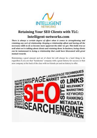 Retaining Your SEO Clients with TLC: Intelligent-networks.com