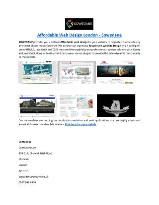 Affordable Web Design London - Sowedane