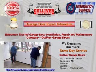 Professional Garage Door Repair and Installation Services in Edmonton -Gulliver Garage Doors