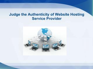 Monitoring the authenticity of Web Hosting Service Provider