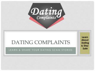 Dating Complaints