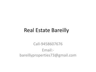 Real Estate Consultant in Bareilly - Commercial and Residential