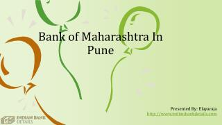 Bank of Maharashtra In Pune Branches