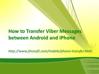 How to Transfer Viber Messages between Android and iPhone