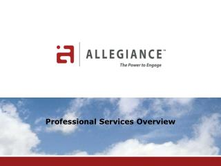 Professional Services Overview