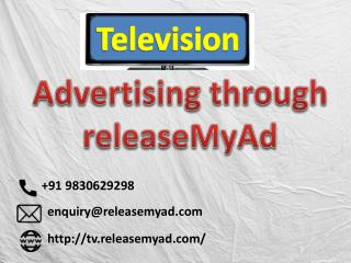 Book your TV ads online with releaseMyAd without extra cost.