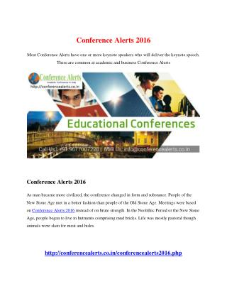 Conference Alerts 2016