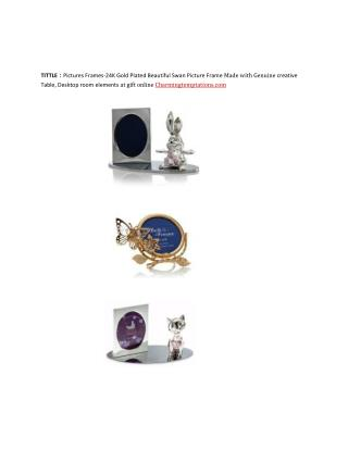 Gold Plated Figurines, Ornaments, Music Box, Night Lights, Picture Frames, Wind Chimes 24K at gift online Charmingtempta