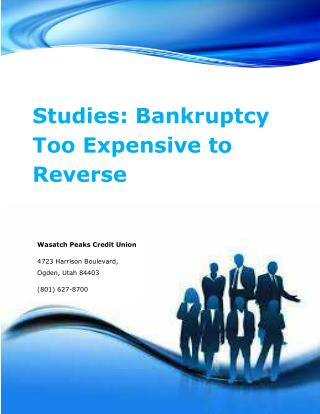 Studies: Bankruptcy Too Expensive to Reverse