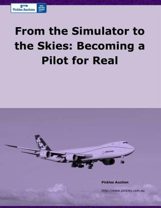 From the Simulator to the Skies: Becoming a Pilot for Real