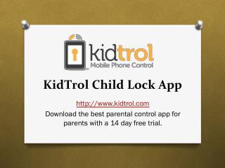 Kidtrol Child Lock App