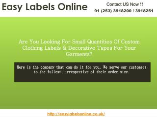 EasyLabelOnline - Woven Labels UK -  Custom Clothing Labels