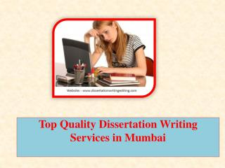 Top Quality Dissertation Writing Services in Mumbai
