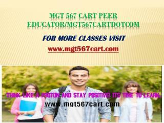 MGT 567 Cart Peer Educator/mgt567cartdotcom