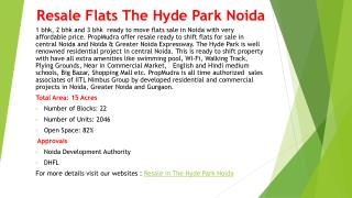 2 BHK Flats in The Hyde Park Noida