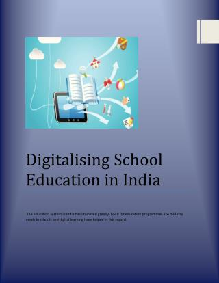 Digitalising School Education in India