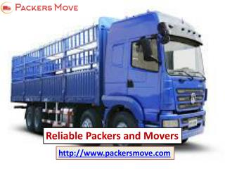 Reliable packers and movers @ www.packersmove.com