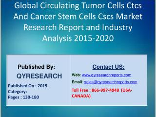 Global Circulating Tumor Cells Ctcs And Cancer Stem Cells Cscs Market 2015 Industry Trends, Analysis, Outlook, Developme