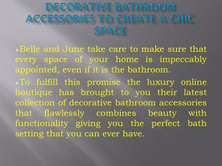 Decorative Bathroom Accessories