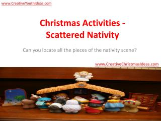 Christmas Activities - Scattered Nativity