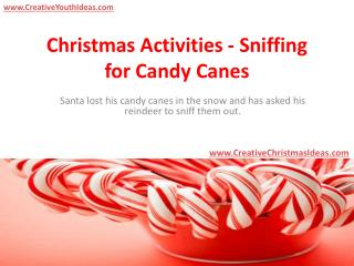 Christmas Activities - Sniffing for Candy Canes