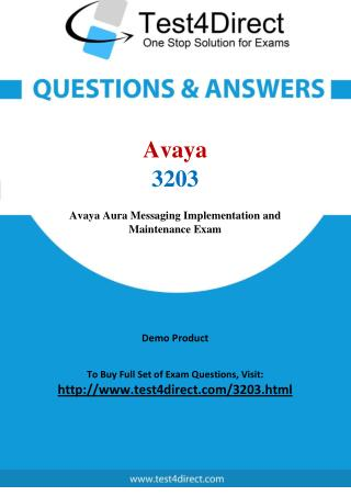 Avaya 3203 Test - Updated Demo