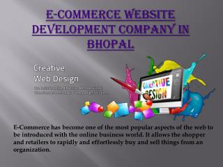 E-commerce website development company in Bhopal
