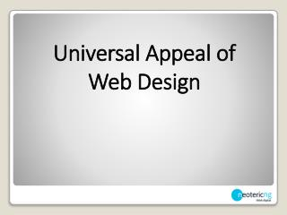Universal Appeal of Web Design