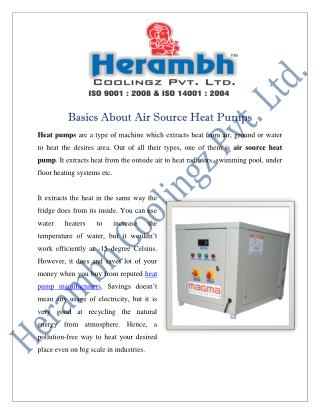 Air Source Heat Pump Manufacturers Suppliers India