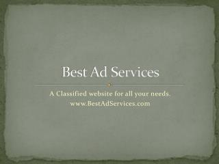 Best Ad Services | Classified website