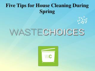 Five Tips for House Cleaning in Spring
