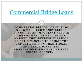 Commercial Bridge Lenders