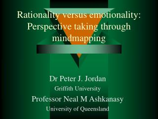 Rationality versus emotionality: Perspective taking through mindmapping