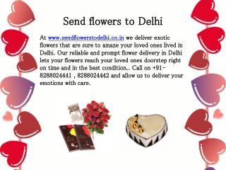 Send Online Flowers & gifts to Delhi