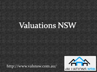 Valuation NSW: For Your Land Valuation