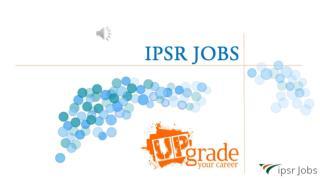 Ipsrjobs | The complete job portal