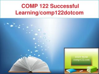 COMP 122 Successful Learning/comp122dotcom