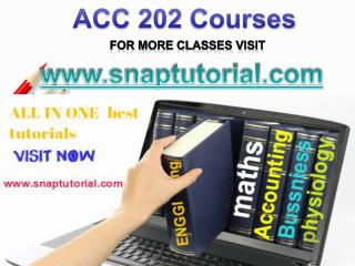 ACC 202 Apprentice tutors/snaptutorial