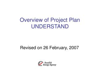 Overview of Project Plan UNDERSTAND