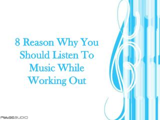 8 reason why you should listen to music while working out