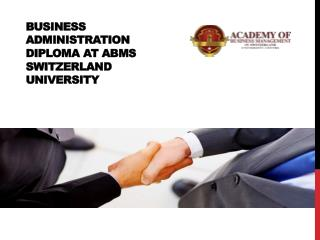 Business Administration Diploma at ABMS SWITZERLAND UNIVERSITY