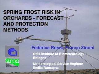 SPRING FROST RISK IN ORCHARDS - FORECAST AND PROTECTION METHODS