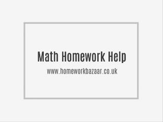 Math Homework Help | Mathematics Help Onlin