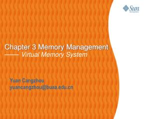 Chapter 3 Memory Management ——  Virtual Memory System