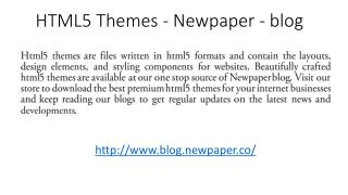 Html5 Themes