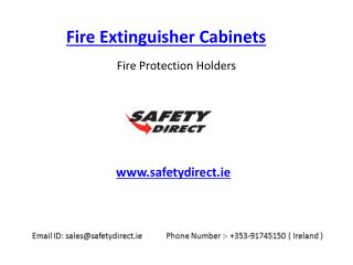 Fire Extinguisher Cabinets in Ireland at SafetyDirect.ie