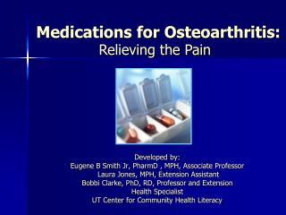 Medications for Osteoarthritis: