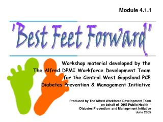 'Best Feet Forward'